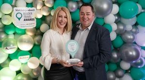 Neven and Amelda Maguire received the award for 'Best Breakfast in Ireland' at the Irish Independent Reader Travel Awards. Photo: Fran Veale
