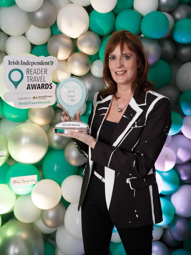 Helen Heaton of Castlewood House, Dingle with her Best Irish Welcome award. Photo: Fran Veale