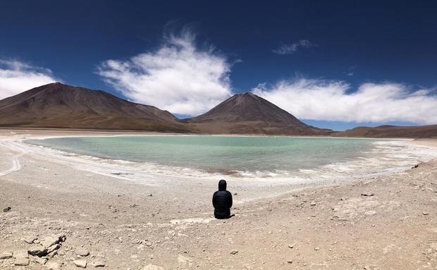 Lauren Taylor at Laguna Verde in Bolivia. PA Photo/Lauren Taylor