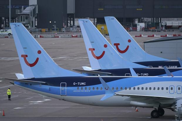 MANCHESTER, ENGLAND - MARCH 12: Boeing 737 Max-8 aircraft parked up at Manchester Airport. Photo by Christopher Furlong/Getty Images