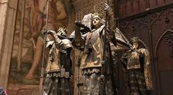 The tomb of Christopher Columbus in Seville Cathedral. PA Photo/Laura Paterson.