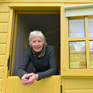 Mary White in one of her new Shepherd's Huts at Blackstairs Eco Trails, Co Carlow