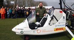 British adventurer James Ketchell hopes to fly solo round the world in his open cockpit gyrocopter (Steve Parsons/PA)