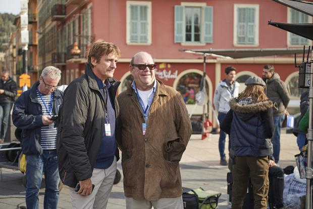 Paul McGuinness on the set of Riviera