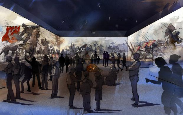 An artist's impression of the proposed 4D Visitor Experience at Bunratty Castle