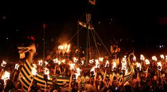 Shetland is home to the annual Up Helly Aa festival (Andrew Milligan/PA)