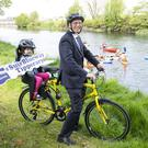 John Treacy, Chief Executive of Sport Ireland launches Suir Blueway Tipperary with 4 year old Rose Phelan from Carrick-on-Suir. Photo: Peter Houlihan