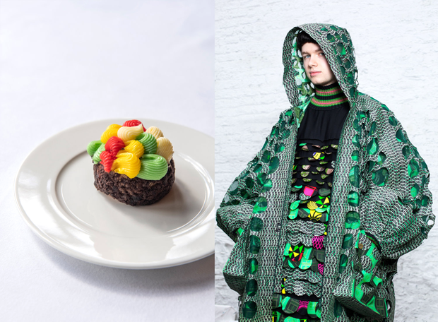 Elizabeth Omowumi's design and the dish it inspired