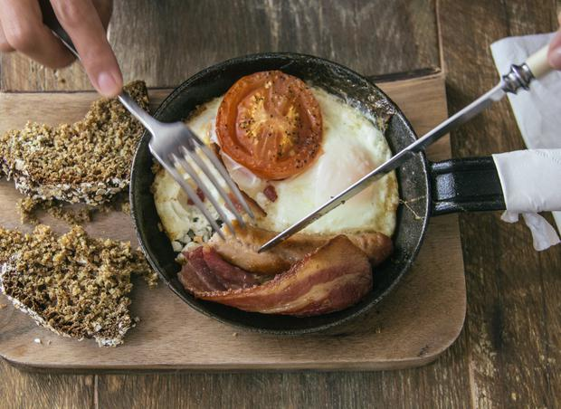 Irish Breakfast served at Hatch & Sons in Dublin