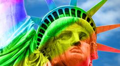 A Generic Photo of the Statue of Liberty in rainbow colours. PA Photo/iStock.