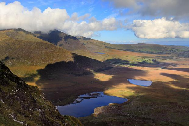 View from the Conor Pass, Co Kerry. Photo: Fáilte Ireland