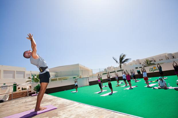 Yoga at Club La Santa