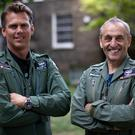 Spitfire pilots Matt Jones, left, and Steve Brooks (Aaron Chown/PA)