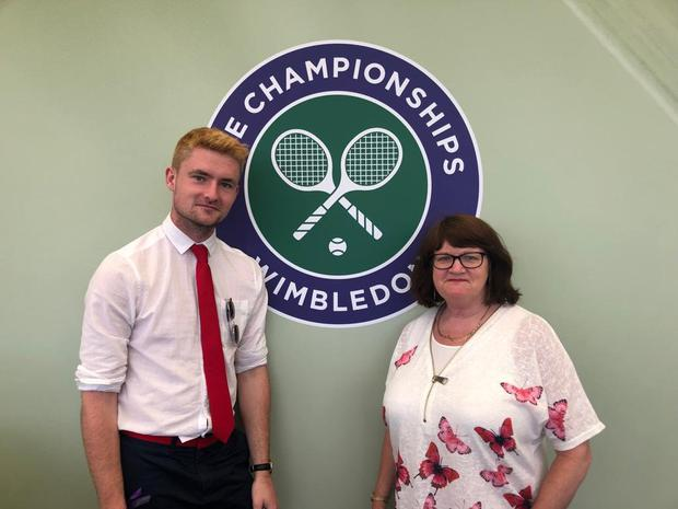 Stephen and mum get pampered at the All England Tennis & Croquet Club