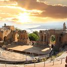 The hilltop town of Taormina still boasts a Greco-Roman theatre