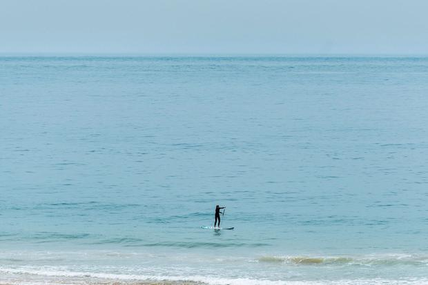 Photo of stand-up paddle boarding in Cascais. PA Photo/Cascais Tourism.
