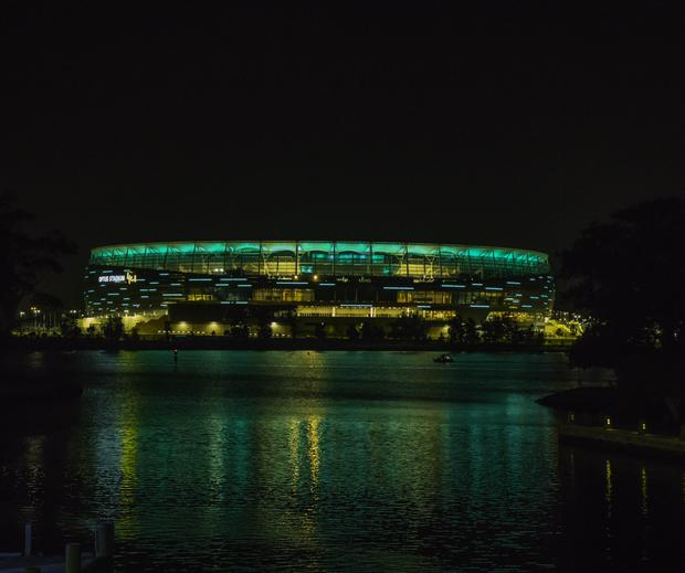 Optus Stadium in Perth, where Mr O'Connor watched his beloved Fremantle Dockers Football Club play with a friend, shortly before his tragic death. Photo: Tourism Ireland