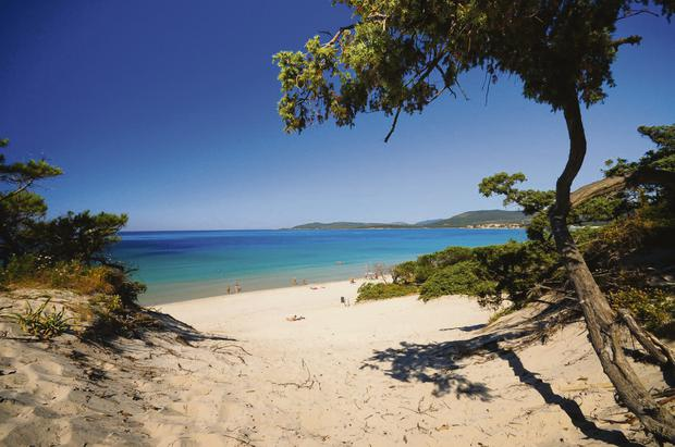 A view of a beach in Sardinia