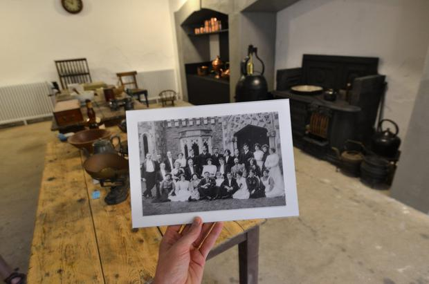 A photo of former staff at Johnstown Castle, taken in the restored kitchen. Photo: Pól Ó Conghaile