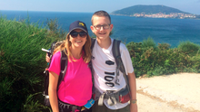 Bronagh and Kyle on their Camino