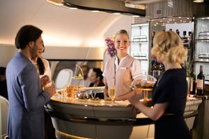 Emirates' revamped A380 lounge