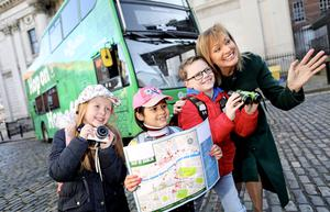 L-R: Laina Lynch; Niamh Ghent; Theo Bailey and Broadcaster Mary Kennedy at the official launch of Tourism Day, an industry initiative supported by Fáilte Ireland. Photo: JULIEN BEHAL PHOTOGRAPHY.