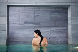 Relaxing in the pool at Monart