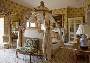 Rooms in Ballyfin are decorated in the original style of the house.