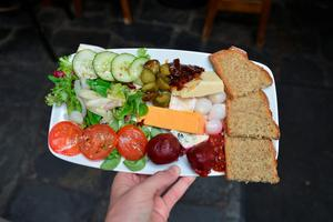 Ploughman's platter at Nancy's, Ardara, Co. Donegal. Photo: Pól Ó Conghaile