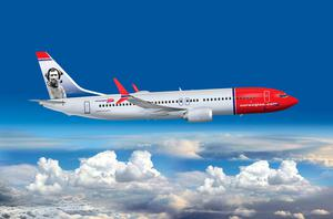 Norwegian's 787-MAX featuring explorer Tom Crean as a 'tail fin hero'