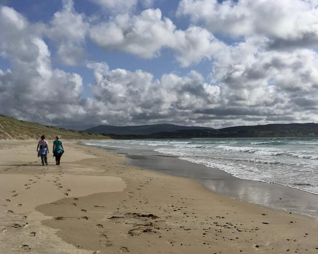 Magheraroarty Beach, Co Donegal, on a holiday in 2019. Photo: Una Campbell