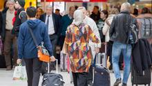 Passengers travelling through Dublin Airport. 2017 was a record year.
