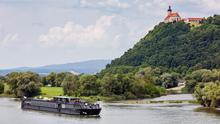 Uniworld's A Ship making its way down the Danube