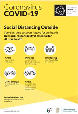 Guidelines for #socialdistancing outside