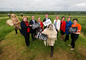 Ministers Brendan Griffin, Regina Doherty, Helen McEntee and Damien English join Jenny DeSaulles, Head of Ireland's Ancient East with Fáilte Ireland, and others for the launch of Ireland's new festival, Púca. Picture by Shane O'Neill, SON Photographic