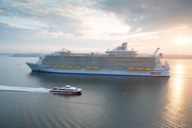 Harmony of the Seas on its launch.