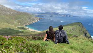 """Keem Bay, Co Mayo. Roisín O'Donoghue and her boyfriend Cian set off on a three week camping adventure on the Wild Atlantic Way. """"It was the perfect trip after the Covid-19 lockdown,"""" she says."""