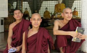 Buddhist monks in Myanmar. Photo: Deirdre Mullins