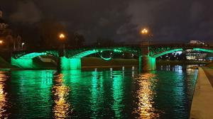 The Žvėryno Bridge in Vilnius (Lithuania), joins Tourism Ireland's Global Greening initiative. Pic – Tourism Ireland