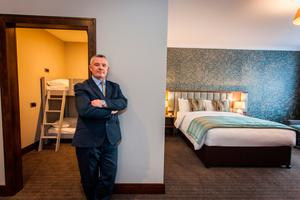 Eibhear Coyle, GM of Amber Springs, in one of the hotel's new family suites.