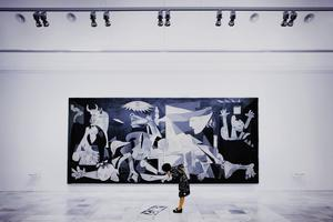 Picasso's Guernica, at the Museo Reina Sofía in Madrid.