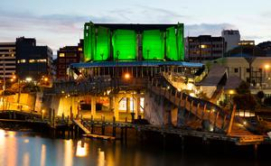 The Michael Fowler Centre in Wellington (New Zealand) joins Tourism Ireland's Global Greening. Pic – Neil Price