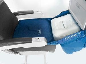 The device must be attached before the passenger reclines their seat. Credit: Fly LegsUp