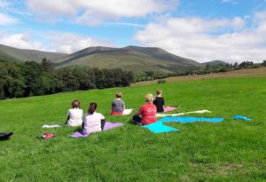 Yoga in the hills...