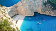 Shipwreck beach on Zakynthos, Greece