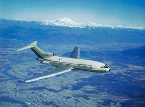 A Boeing 727 'trijet' with its distinctive third middle engine. Photo: Getty/Bettmann Archive