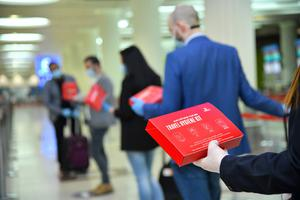 Emirates is giving free 'travel hygiene kits' to passengers