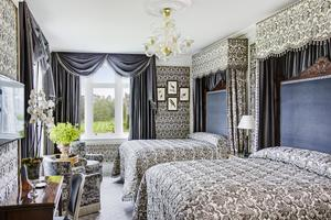 One of the newly refurbished rooms at Ashford Castle