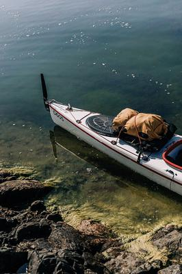 The compact kayak Anna and Jacob travelled together in