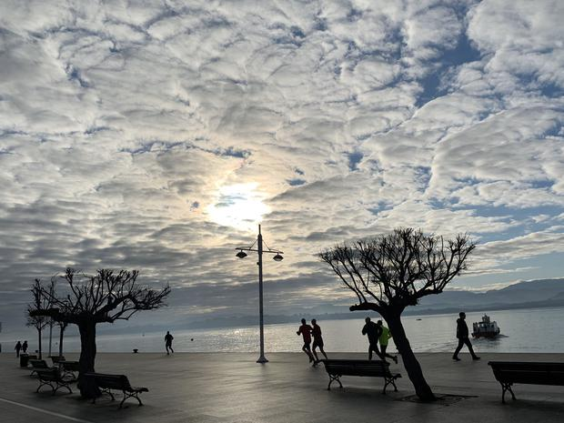 'I am so grateful that I got to go to Santander earlier this year, not knowing what was to come,' writes Priscilla O'Regan. 'This is a shot from my morning walk on the prom..' Photo: Twitter / @PriscillaORegan